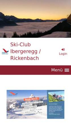 Vorschau der mobilen Webseite www.scir.ch, SC Ibergeregg/Rickenbach