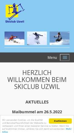 Vorschau der mobilen Webseite www.skiclubuzwil.ch, SC Uzwil