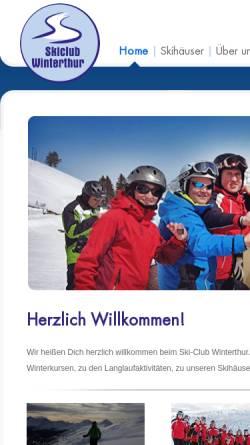 Vorschau der mobilen Webseite www.skiclub-winterthur.ch, SC Winterthur