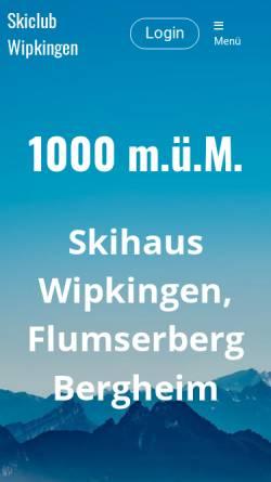 Vorschau der mobilen Webseite www.sc-wipkingen.ch, SC Wipkingen