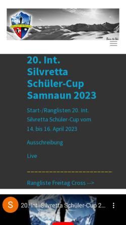 Vorschau der mobilen Webseite www.ssc-samnaun.ch, Schneesport Club Samnaun