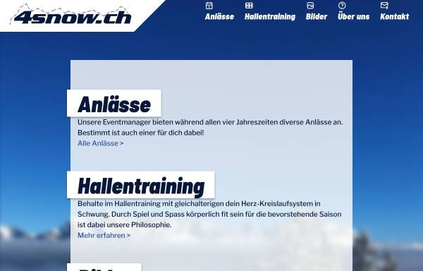 Vorschau von www.4snow.ch, Schneesport-Club Satus Wiedikon
