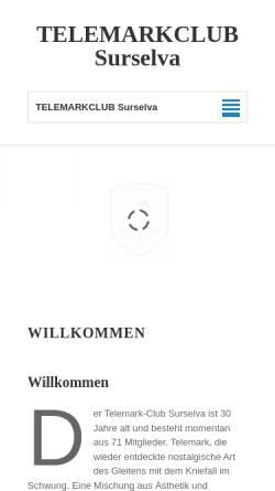 Vorschau der mobilen Webseite www.telesurselva.ch, Telemark Club Surselva