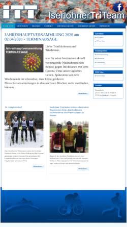Vorschau der mobilen Webseite www.iserlohner-tri-team.de, Iserlohner Triathlon Team