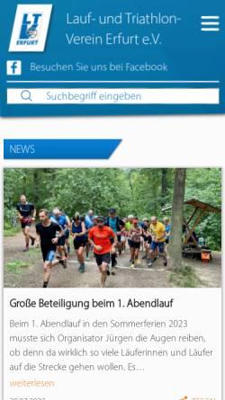 Vorschau der mobilen Webseite www.ltv-erfurt.de, LTV Erfurt