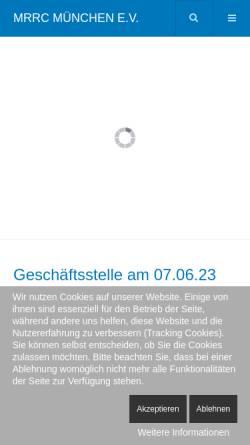 Vorschau der mobilen Webseite www.mrrc.de, MRRC München