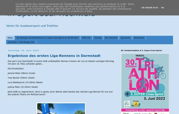 Vorschau von www.tri-sport.de, Tri Sport Saar Hochwald e.V. Merzig