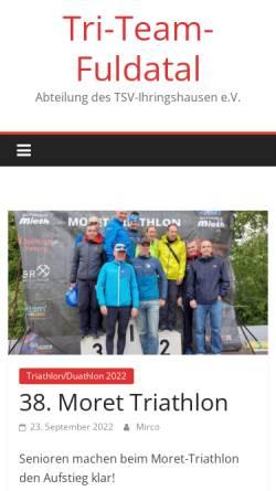 Vorschau der mobilen Webseite www.tri-team-fuldatal.de, Triathlon Team Fuldatal