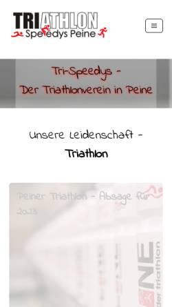 Vorschau der mobilen Webseite www.tri-speedys.de, Tri-Speedys Peine