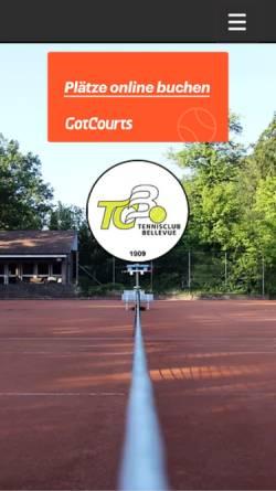 Vorschau der mobilen Webseite www.tcbellevue.ch, TC Bellevue