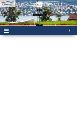 Vorschau der mobilen Webseite www.tc-seeblick.ch, Tennisclub Seeblick Wollishofen