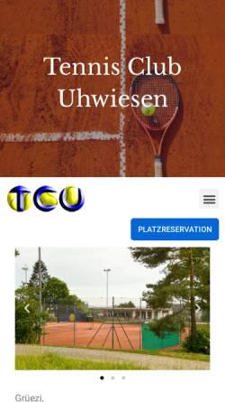Vorschau der mobilen Webseite www.tc-uhwiesen.ch, Tennisclub Uhwiesen