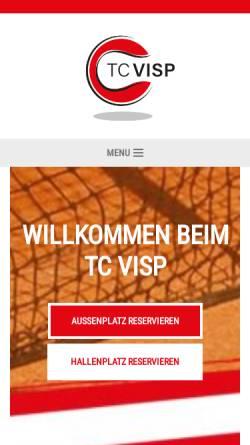 Vorschau der mobilen Webseite www.tcvisp.ch, Tennisclub Visp