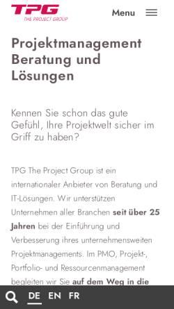 Vorschau der mobilen Webseite www.theprojectgroup.com, The Project Group