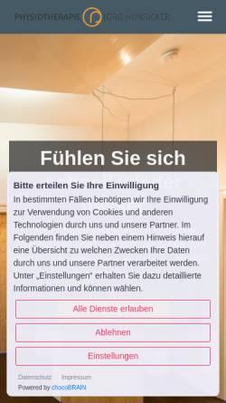 Vorschau der mobilen Webseite www.physio-neuenheim.de, Physiotherapie und Massage Roy Randolph-Englert