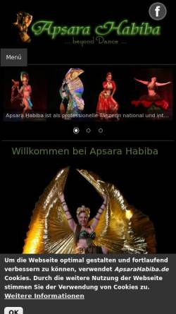 Vorschau der mobilen Webseite www.apsarahabiba.de, Apsara Habiba