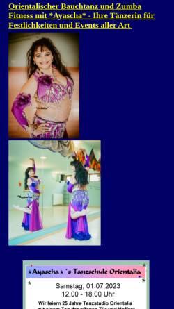Vorschau der mobilen Webseite www.ayascha.de, Ayascha