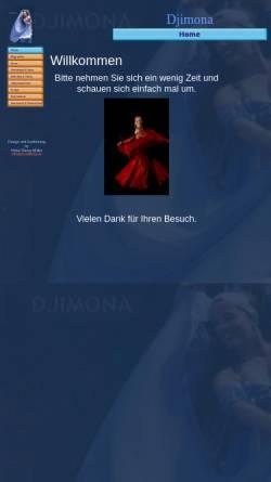 Vorschau der mobilen Webseite djimona.de, Djimona