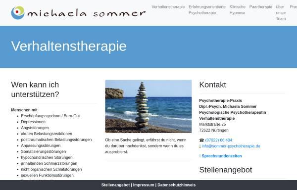 Vorschau von www.sommer-psychotherapie.de, Dipl. Psych. Michaela Sommer