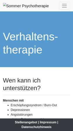 Vorschau der mobilen Webseite www.sommer-psychotherapie.de, Dipl. Psych. Michaela Sommer