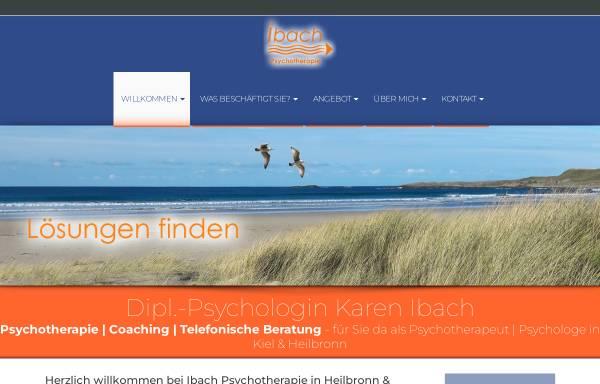 Vorschau von www.ibach-psychotherapie.de, Dipl. Psychologin Karen Ibach
