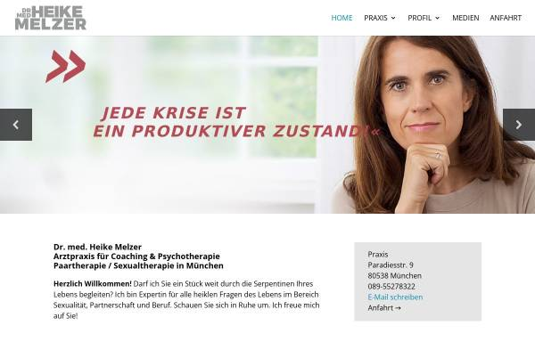 Vorschau von dr-med-heike-melzer.de, Fachärztin für Neurologie, Psychotherapie - Dr. med. Heike Melzer