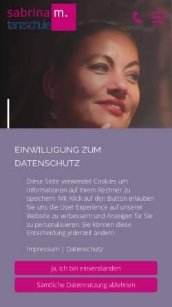 Vorschau der mobilen Webseite www.tanzschule-sabrina-m.de, Sabrina