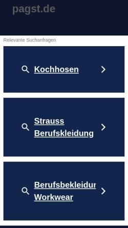 Vorschau der mobilen Webseite www.pagst.de, Institut für Psychoanalyse Psychoanalytische Arbeitsgemeinschaft Stuttgart/Tübingen e.V. (IfP)