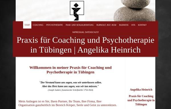 Vorschau von www.angelikaheinrich.de, Praxis für Coaching und Psychotherapie