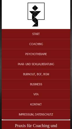 Vorschau der mobilen Webseite www.angelikaheinrich.de, Praxis für Coaching und Psychotherapie