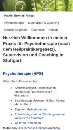 Vorschau der mobilen Webseite www.einreden.de, Praxis für Psychotherapie (HPG), Supervision und Coaching