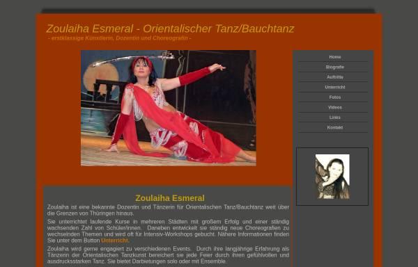 Vorschau von www.bauchtaenzerin.com, Zoulaiha Esmeral