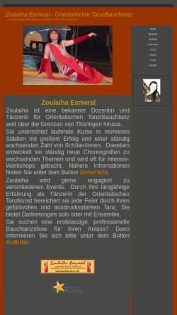 Vorschau der mobilen Webseite www.bauchtaenzerin.com, Zoulaiha Esmeral
