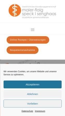 Vorschau der mobilen Webseite www.maier-flaig.de, Psychoanalyse und Tiefenpsychologisch fundierte Psychotherapie - Günther Maier-Flaig