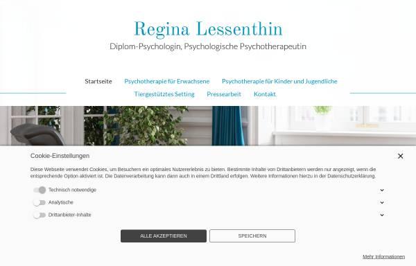 Vorschau von www.lessenthin.de, Psychologische Psychotherapeutin - Regina Lessenthin