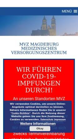 Vorschau der mobilen Webseite www.mvz-klinikum-magdeburg.de, Städtisches Klinikum Magdeburg