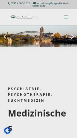 Vorschau der mobilen Webseite www.suchttagesklinik.de, Tagesklinik an der Sternbrücke Dr. Kielstein