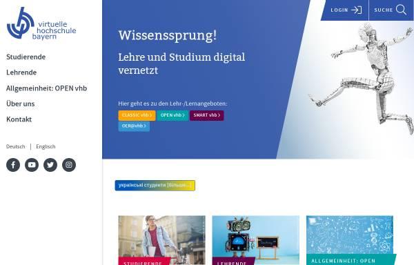 Vorschau von www.vhb.org, Virtuelle Hochschule Bayern (VHB)