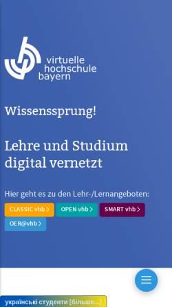 Vorschau der mobilen Webseite www.vhb.org, Virtuelle Hochschule Bayern (VHB)