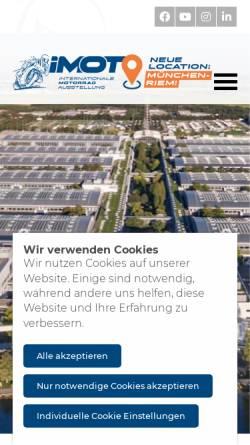 Vorschau der mobilen Webseite www.imot.de, Internationale Motorradaustellung
