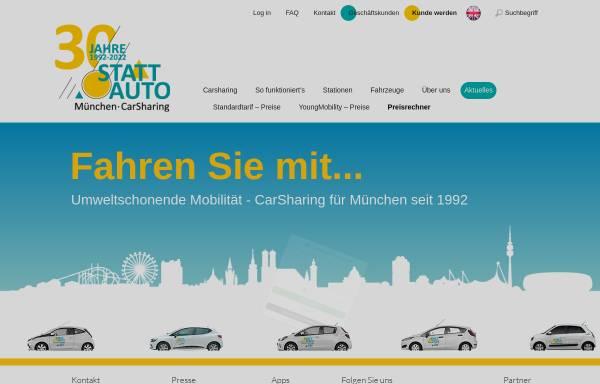 Vorschau von www.stattauto-muenchen.de, Stattauto München