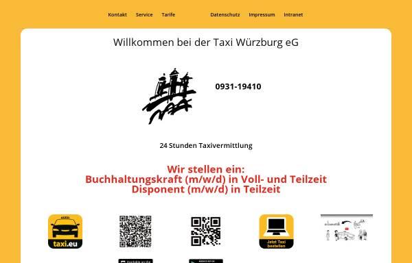 Vorschau von www.taxi-wuerzburg.de, Taxi Würzburg e.G.