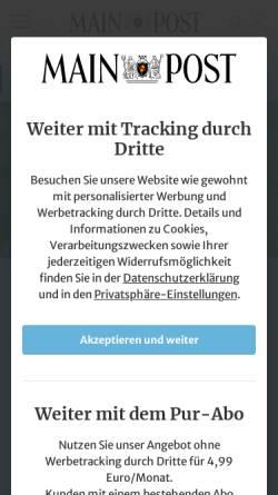 Vorschau der mobilen Webseite www.mainpost.de, Main-Post GmbH & Co. KG