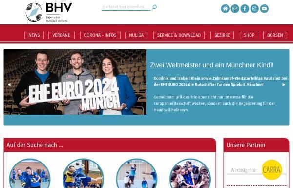 vorschau von wwwbhv onlinede bayerischer handball verband - Real Online Bewerbung