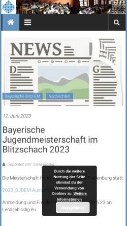 Vorschau der mobilen Webseite www.bayerische-schachjugend.de, Bayerische Schachjugend