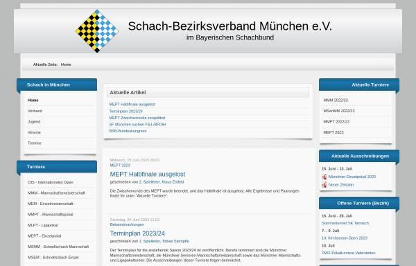 Vorschau von schachbezirk-muenchen.de, Schachbezirk München e.V.