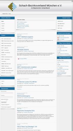 Vorschau der mobilen Webseite schachbezirk-muenchen.de, Schachbezirk München e.V.