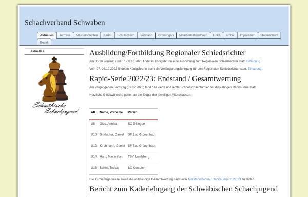 Vorschau von www.jugend.schachverbandschwaben.de, Schachjugend Schwaben