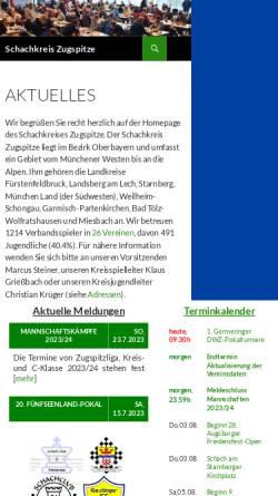 Vorschau der mobilen Webseite schachkreis-zugspitze.de, Schachkreis Zugspitze
