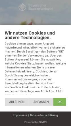 Vorschau der mobilen Webseite www.bayerischerbauernverband.de, Bayerischer Bauernverband